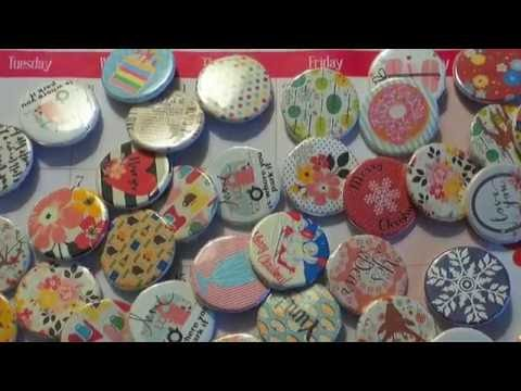 DIY HOW TO DESIGN & CREATE YOUR OWN BUTTON FLAIR