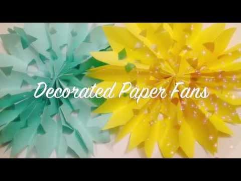How to Make Paper Rosettes| Paper Fan Decoration | Wedding Decoration | Wedding Backdrop