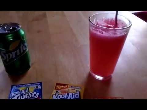 How to make strawberry kiwi kool aid sprite drink