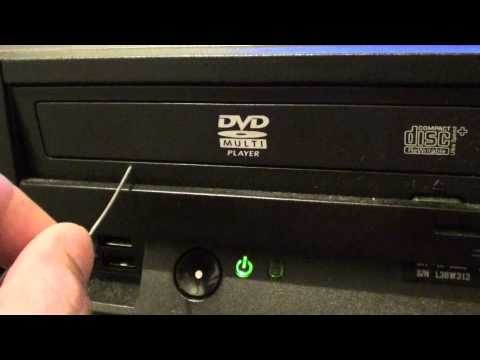 How to Eject a Stuck DVD Drive on the Computer