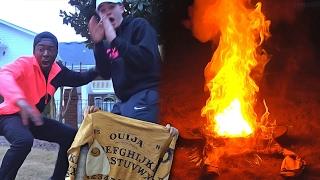 OUIJA BOARD SWEATER BURSTS INTO FLAMES...