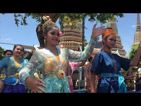 Thai dance in water festival 2017 , Bangkok , Thailand