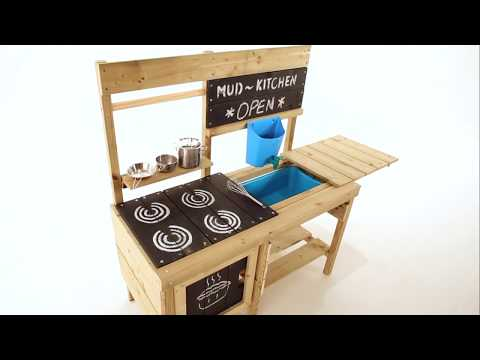 Tp Toys Muddy Madness Wooden Mud Kitchen