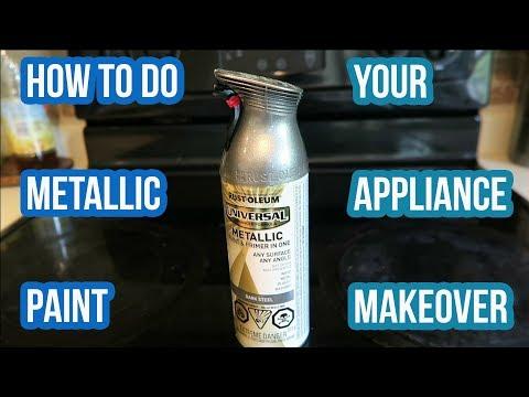 How To Do Metallic Paint | Renovate Existing Appliances