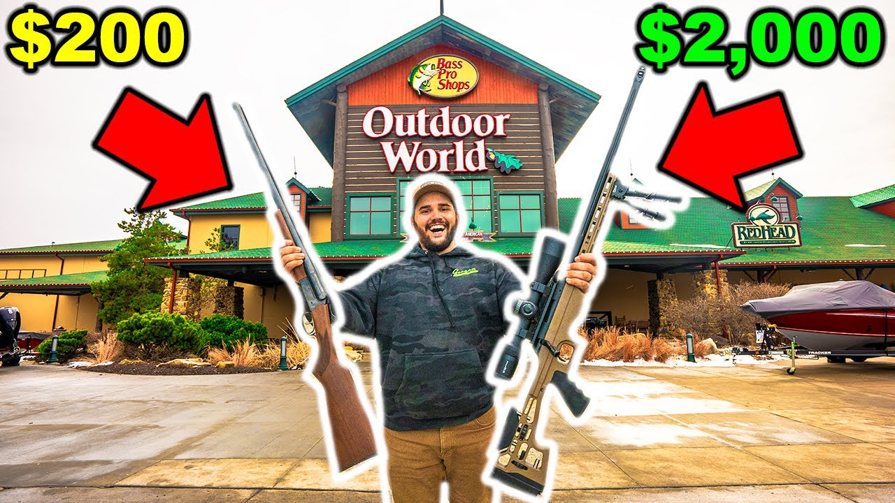 CHEAP vs EXPENSIVE Bass Pro Shops CHALLENGE!!! (Surprising Result!)