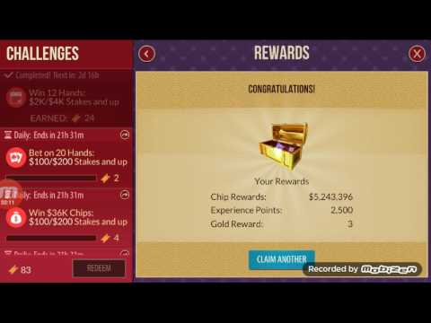 Zynga Poker-REDEEMING TICKETS AND TAKE LOT OF CHIPS