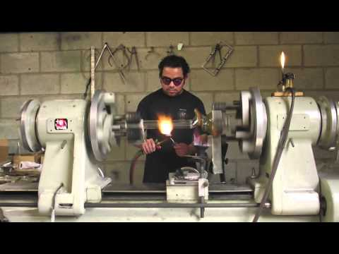 Round Glass - Making a Water Pipe Live Glass Blowing (Time Lapse)