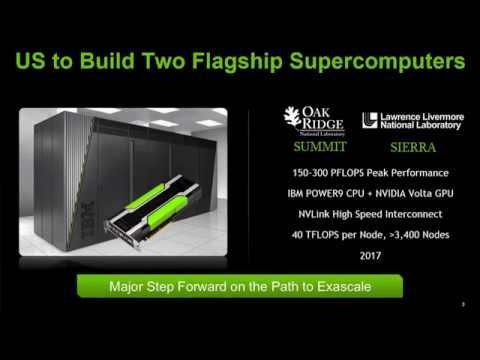 Nvidia/IBM to Build Two Coral 100+ Petaflop Supercomputers in 2017