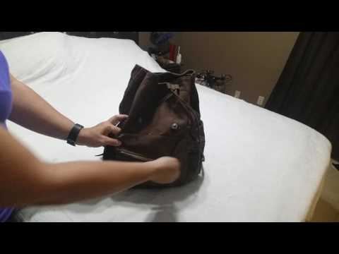 Hynes Eagle Vintage Canvas Leather Backpack Rucksack
