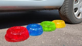 Crushing Crunchy & Soft Things by Car! - EXPERIMENT: JELLY VS CAR