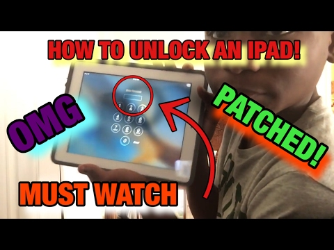How to unlock an iPad without the passcode!!!!!! (2018)