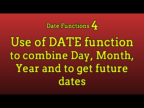 Date Functions 4: How to use Date Function ?