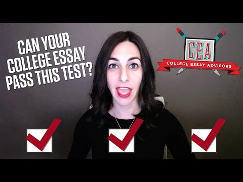 The College Essay Test Every Student Should Take