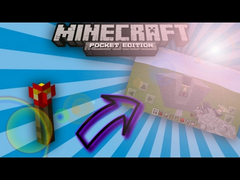MCPE: How To Make A Redstone Torch Key