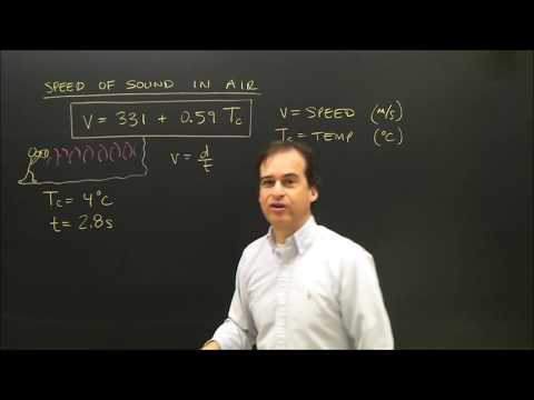 Speed of Sound Calculation in Air Physics
