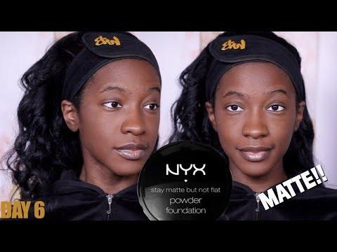 Foundation Hunt Week Day 6: NYX Stay Matte Powder Foundation (Deep Dark)