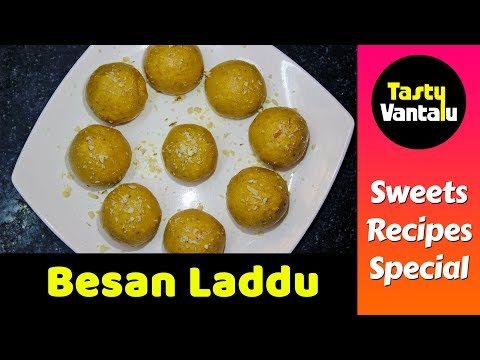 Besan laddu in Telugu - Senaga pindi laddu by Tasty Vantalu