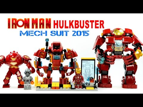 LEGO Iron Man Hulkbuster Mech Suit & Tony Stark Laboratory KnockOff Set Review