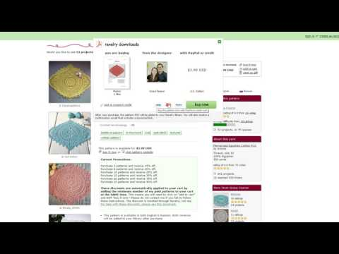 How to Purchase Ravelry Pattern without a Ravelry or Paypal Account