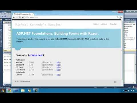 Building ASP.NET MVC Forms with Razor (ASP.NET MVC Foundations Series)