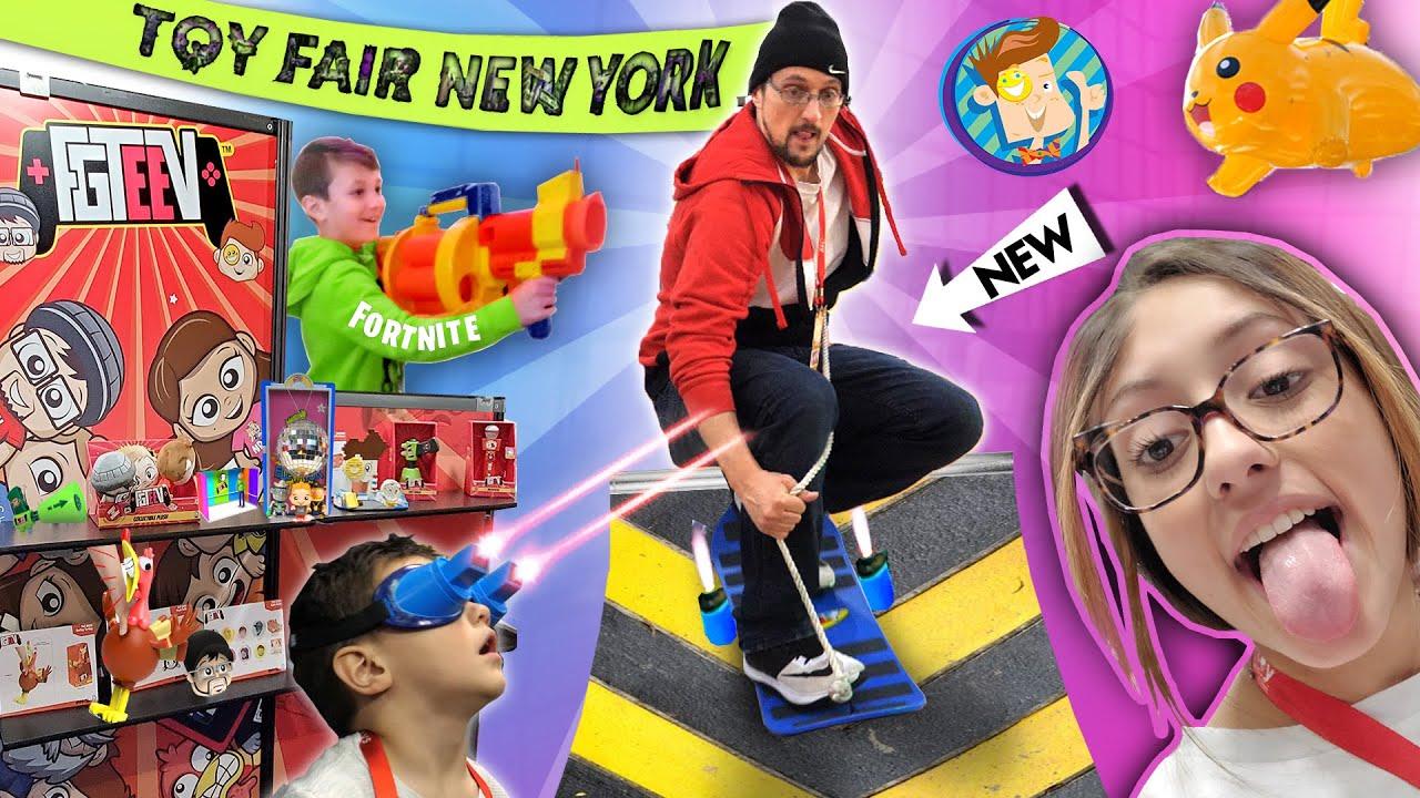 2020 NEW YORK TOY FAIR!!  FUNnel Fam Highlights! (FORTNITE NERF, Upside Down Challenge & More Vlog)