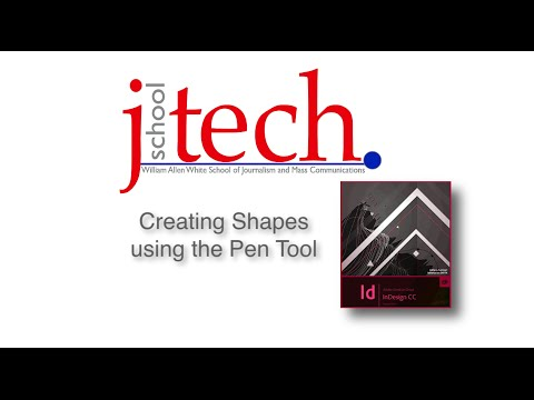 Creating Shapes in InDesign using the Pen tool