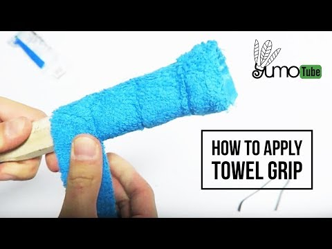 How to: Wrap a Badminton Racket with Towel Grip - YumoTube