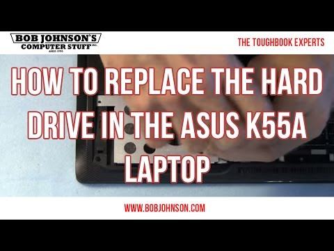 How to Replace the Hard drive in the ASUS K55A Laptop