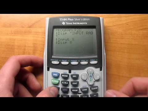 How to make a Radians to Degrees program on the TI-84