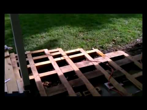 Creating a wood deck patio over concrete