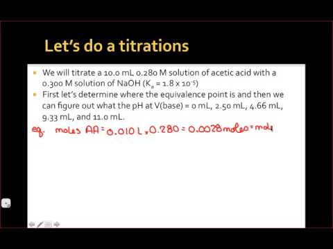 CHY 115: Acid Base Titrations