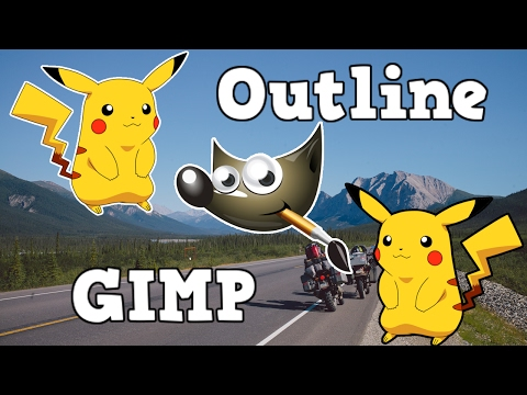 How to Outline an Image in GIMP