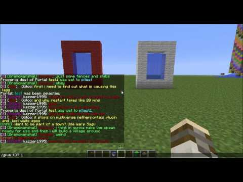 Minecraft GcraftTeam How to create Multiverse portals and command box portals