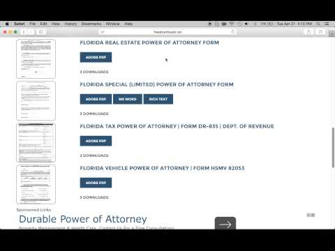 How to Get Florida Power of Attorney | Download Free