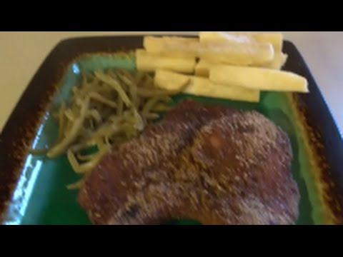 shake@bake pork chops with fried yuca