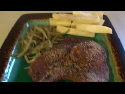 shake@bake pork chops with fried yuca