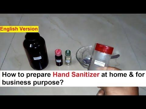 Hand Sanitizer Making Process - Real Formula