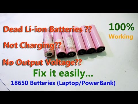 Lithium ion 18650 battery (laptop,powerbank) not Charging/Dead Fix |100% working