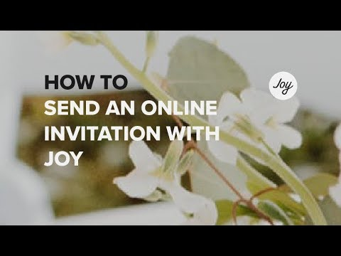 How To Send An Online Wedding Invitation With Joy