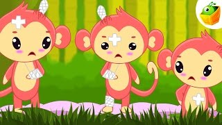Five Little Monkeys | English Nursery Rhymes | Magicbox English Kids Channel