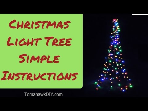 How to Make Christmas Lawn Decoration - Simple Light Tree