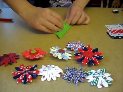 How to make a Handmade Material Flower Brooch 1/2