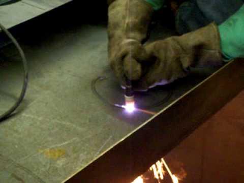 GiantTech Plasma Cutter Cutting 1/4 Mild Steel