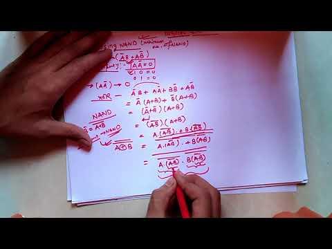 xor using minimum number of NAND GATES (hindi simple explanation for gate)