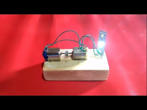 How to Make Free Energy generator Light Bulb by 12v Motor Homemade new inventions tech project 2018
