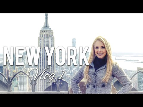 Vlog 1 New York - Rockefeller, Times Square...
