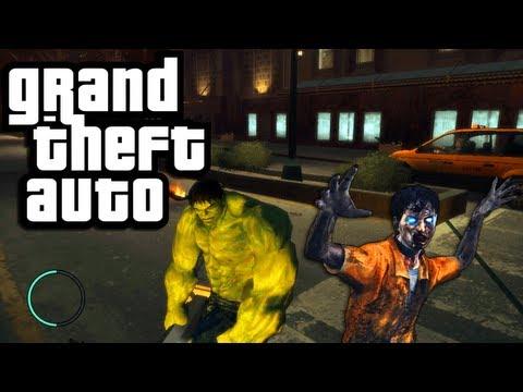 Download GTA 4 PC Mods: Hulk vs  Zombies! (Funny Moments