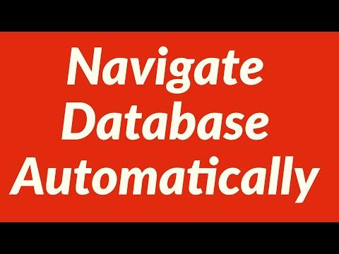 Navigate Database Automatically