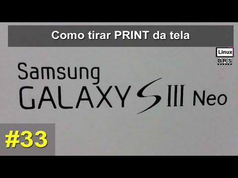 Samsung Galaxy S3 Neo - Screenshot ou Print Screen da Tela - Português