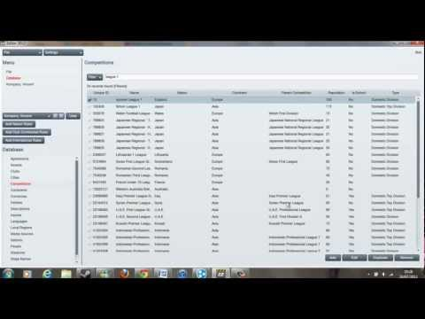 Football Manager Tutorial: How to use the Editor